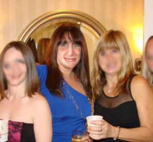 Just me with my girlfriends. The night I met Dwayne.